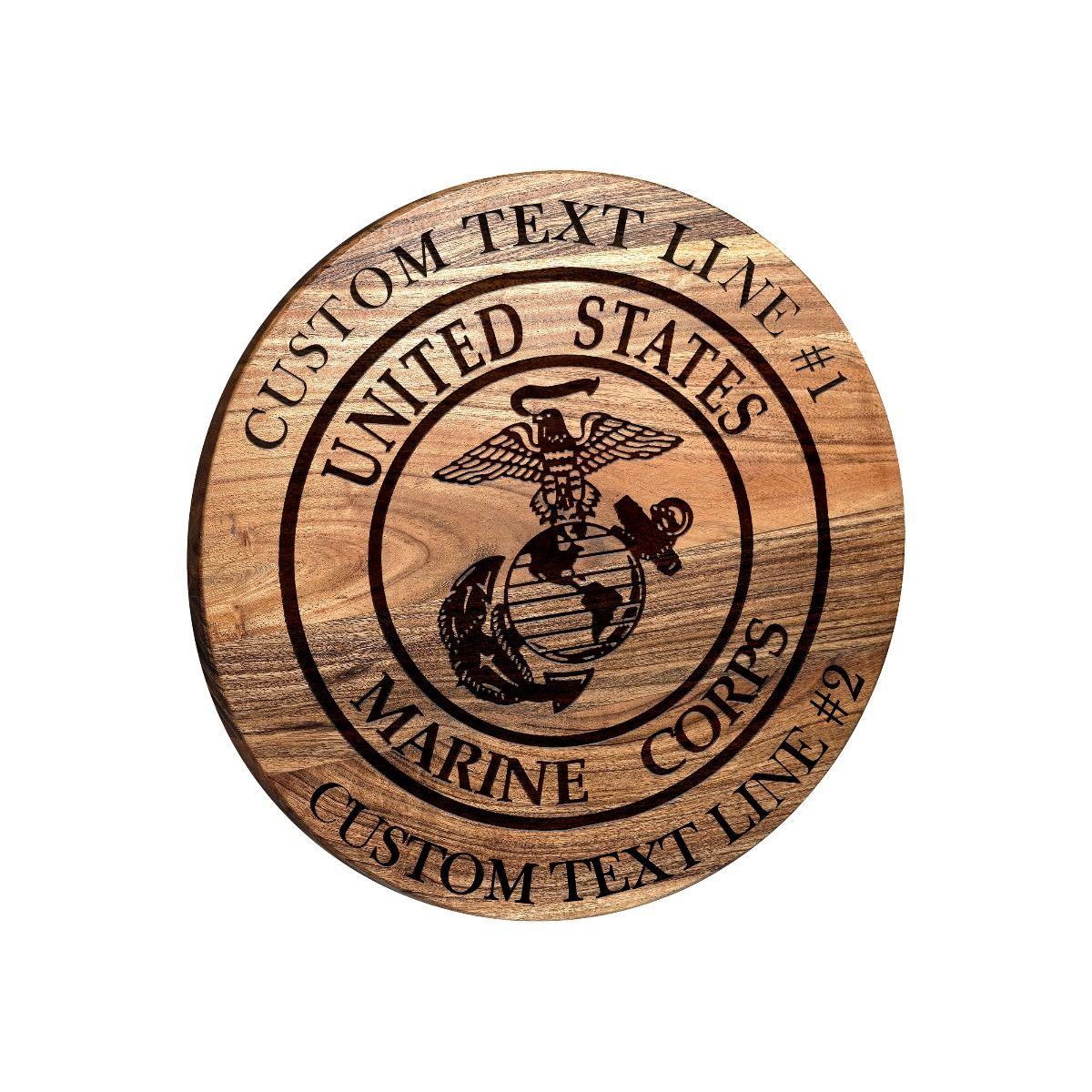 USMC Round Bar Sign