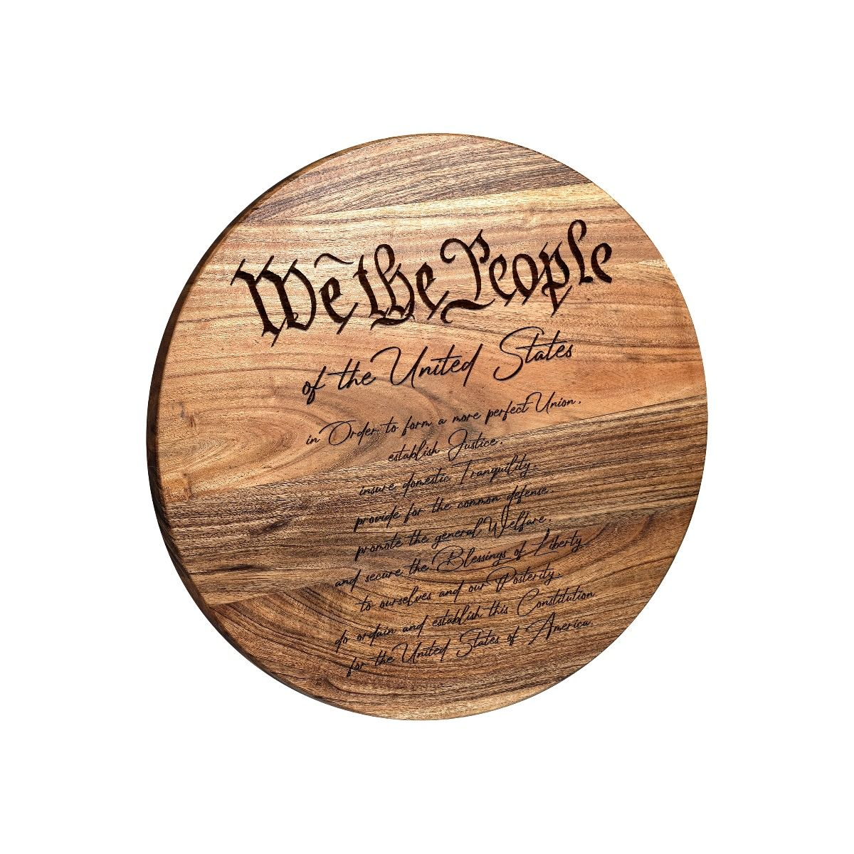 We The People Round Bar Sign