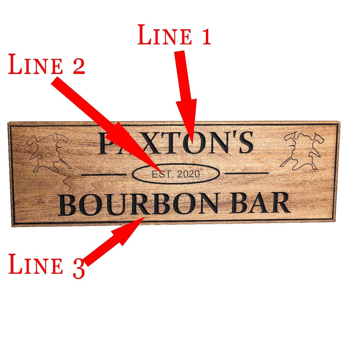 Engraved Firefighter Home bar Sign