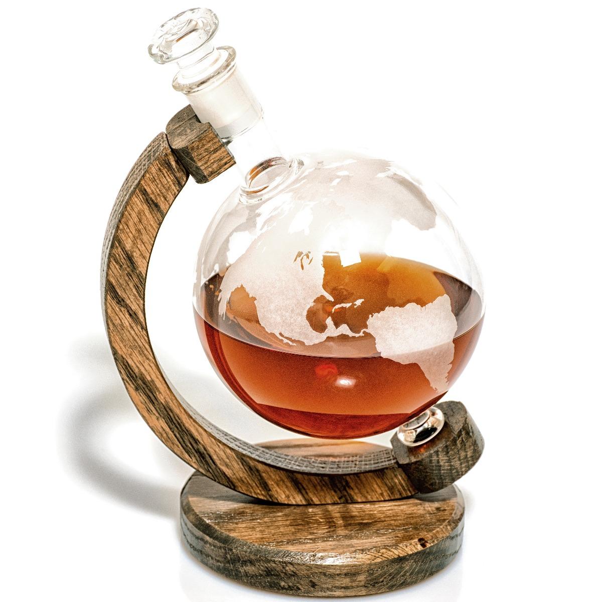 Prestige Decanters 1000 ml Etched Glass Pythagoras Globe wine decanter