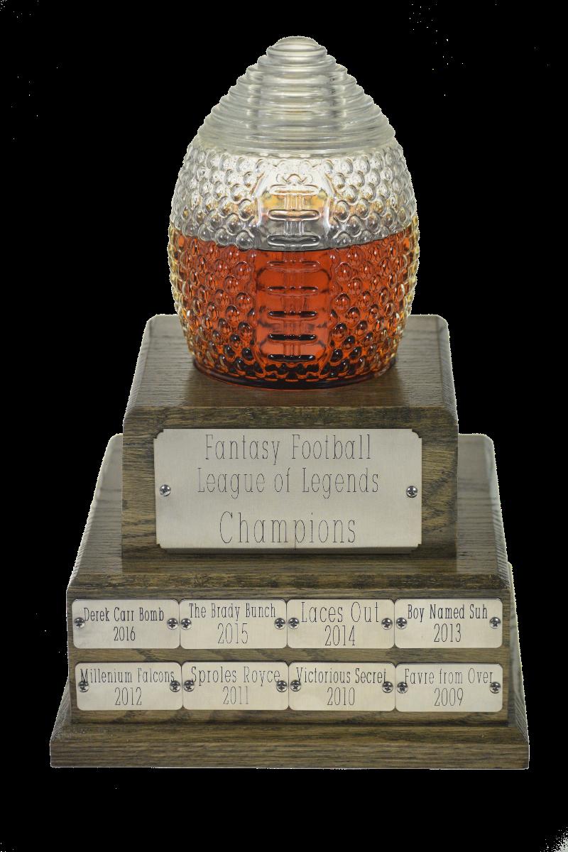 Fantasy Football Trophy glass decanter