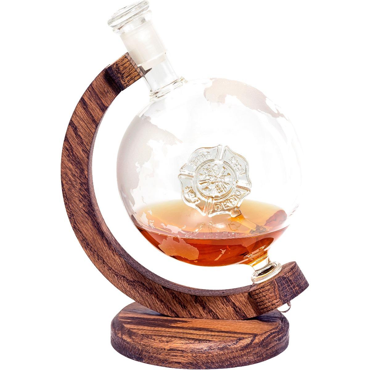 Firefighter whiskey decanter