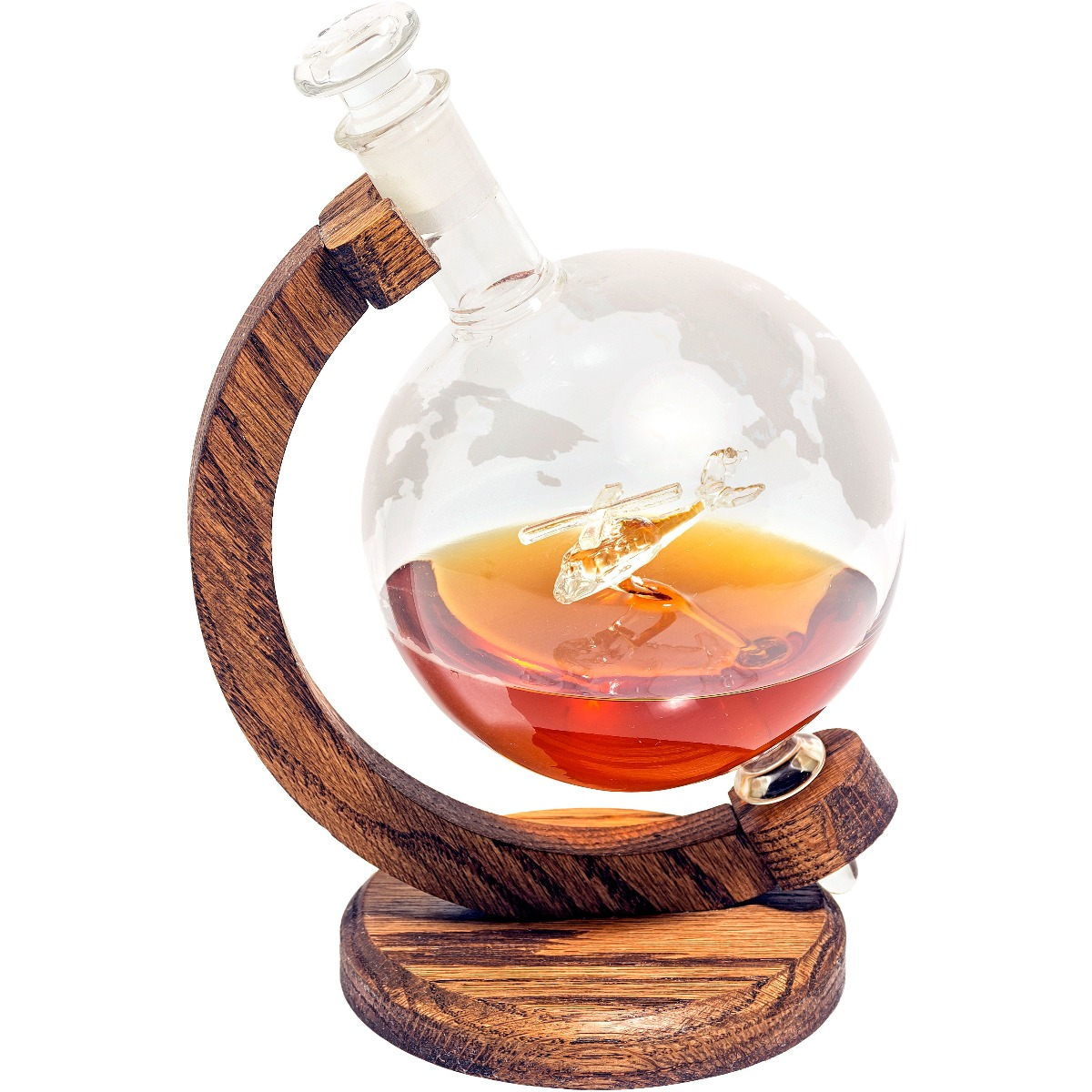 Helicopter decanter, a gift for helicopter lovers