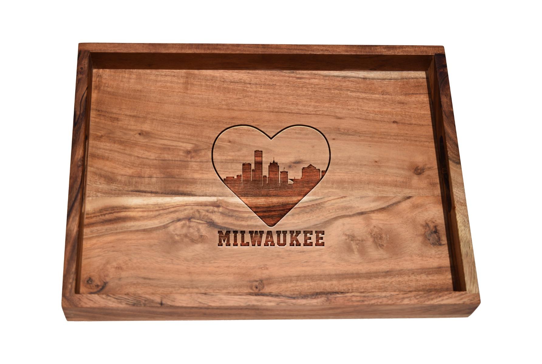 I love Milwaukee skyline bar tray