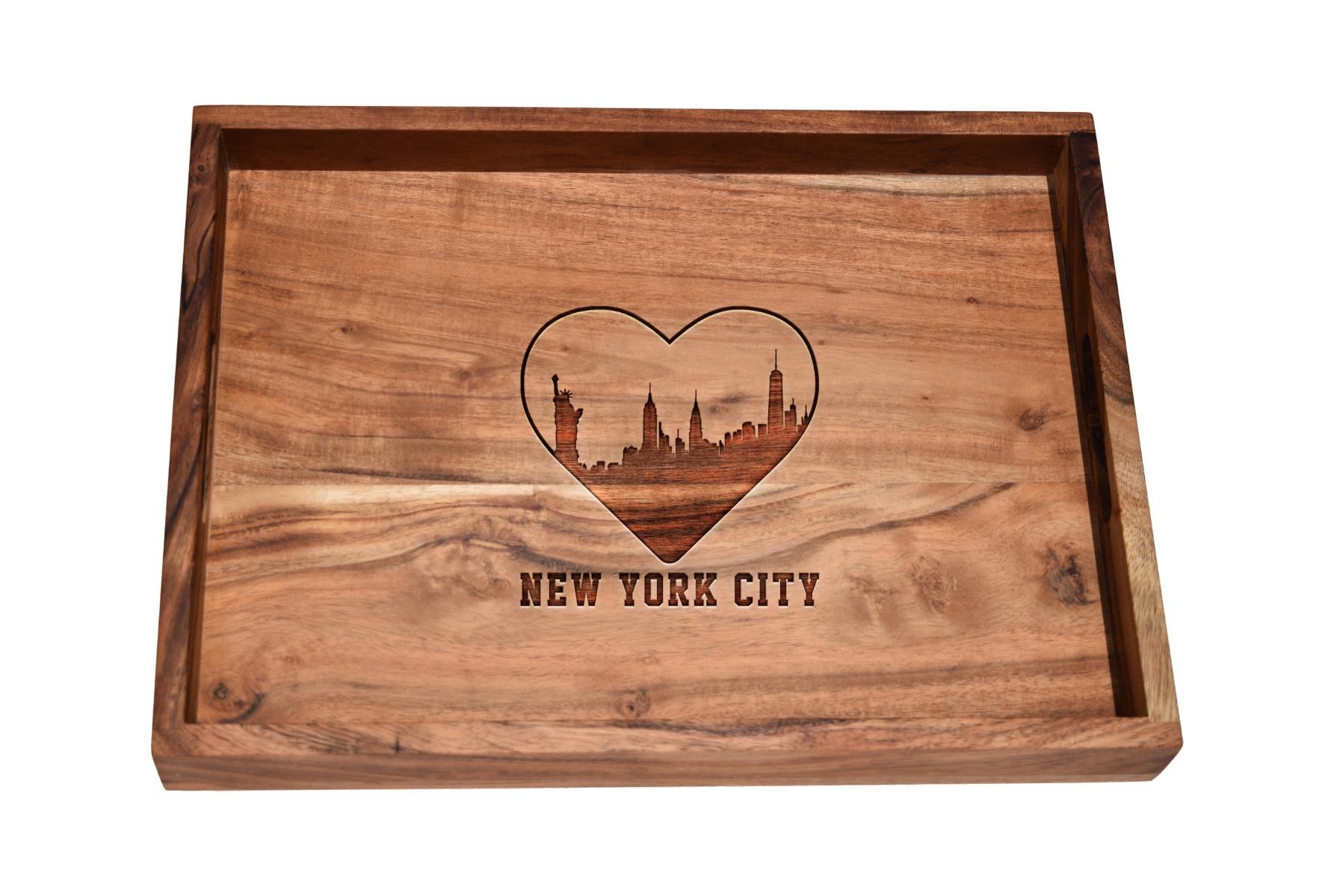 I love New York City skyline bar tray