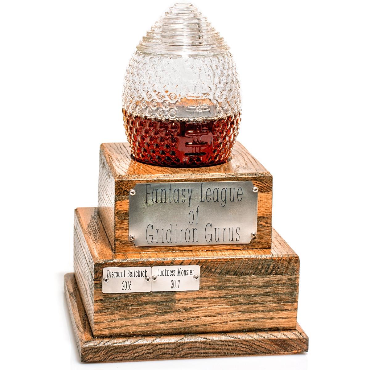 Perpetual Fantasy Football Trophy decanter