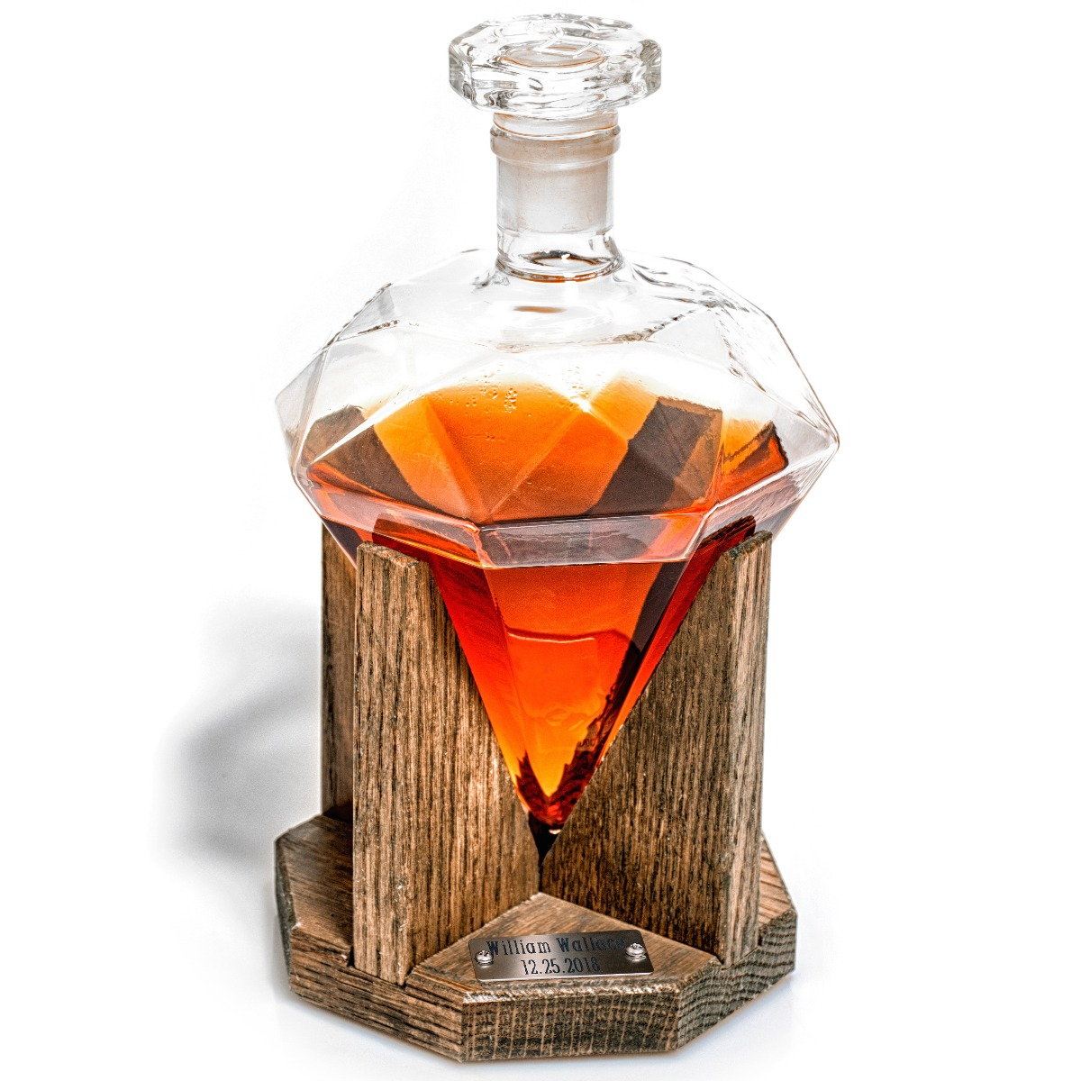 Prestige Decanters Cullinan Decanter, an engraved diamond whiskey decanter