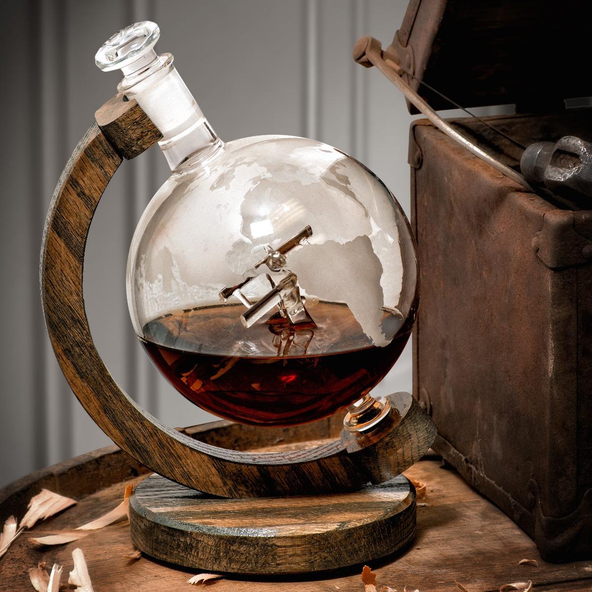 Sopwith Camel glass globe wine decanter