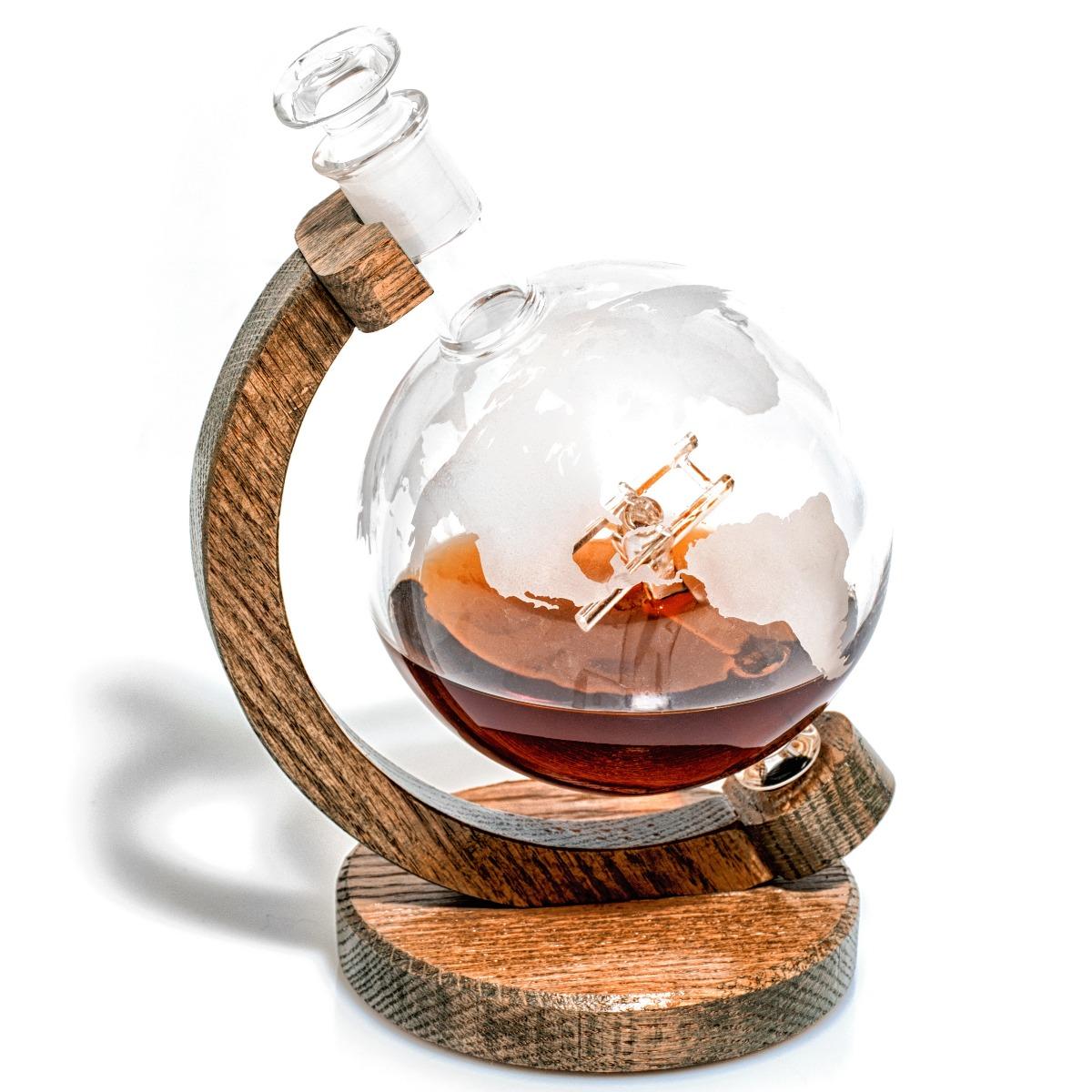 Sopwith Camel glass wine decanter