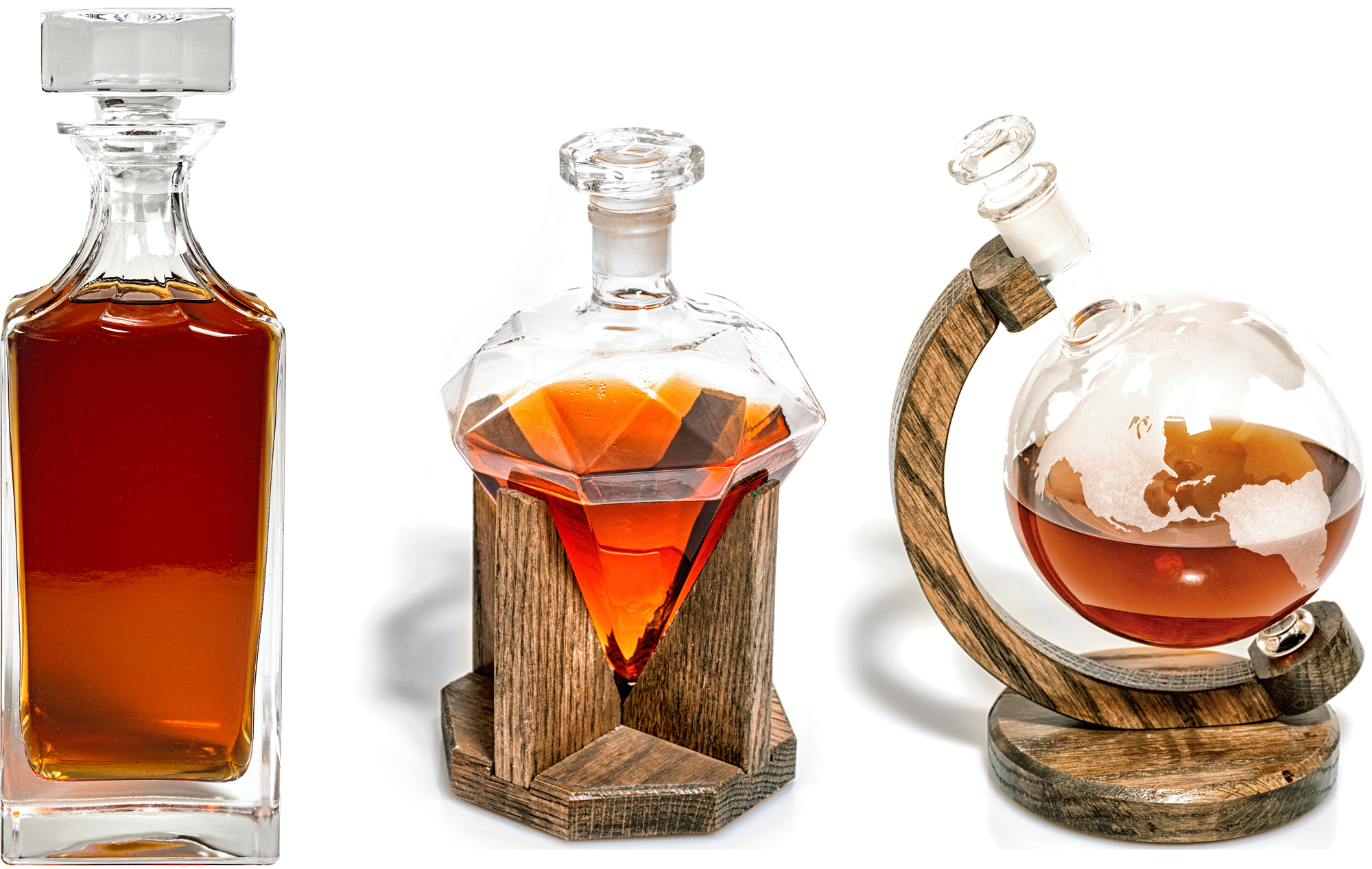 Grab and Pour Decanters, classic grab and pour decanters, the best decanters in our line up