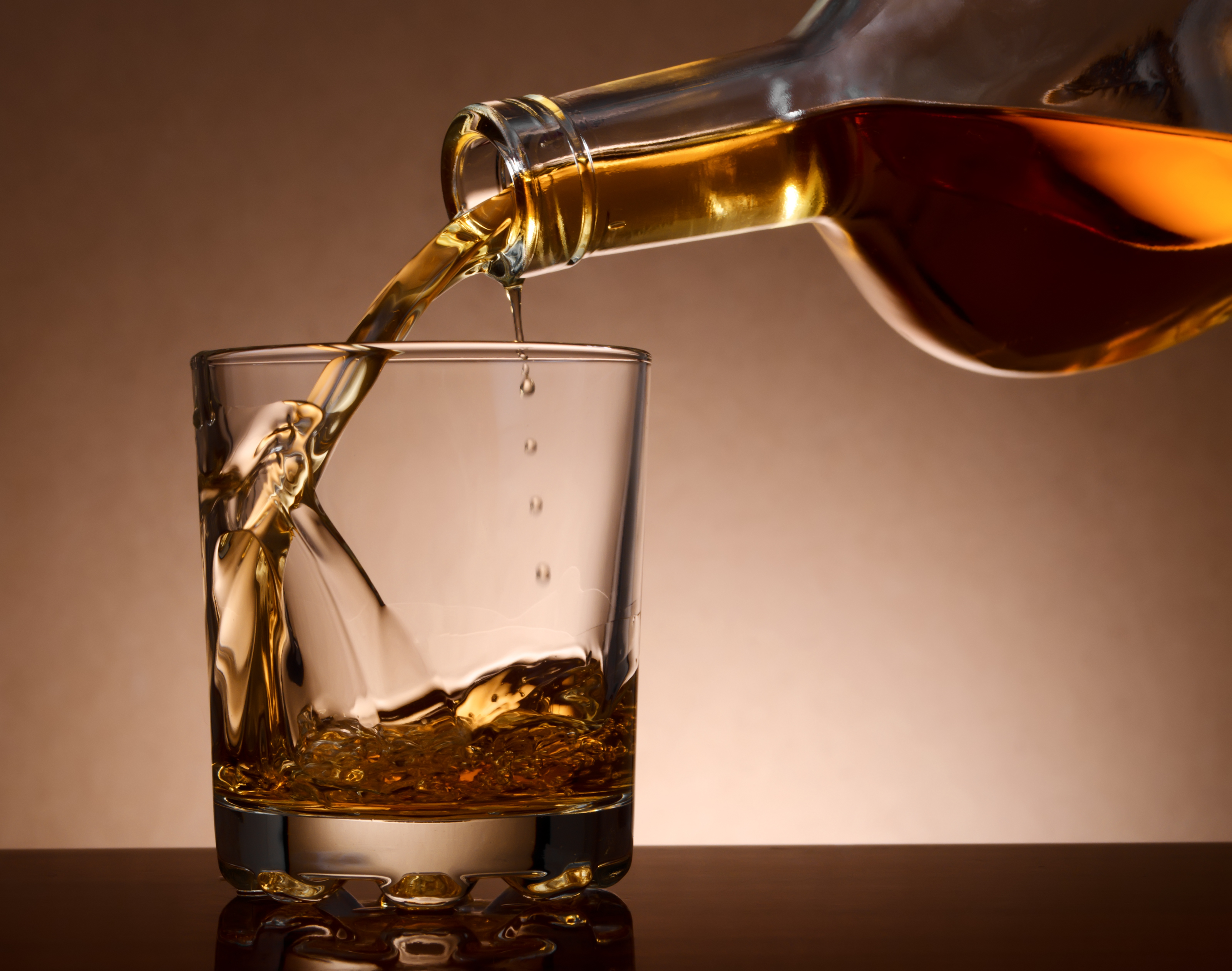 Elegantly Poured Whiskey