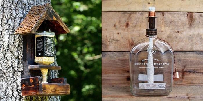 DIY Wine Bottle / Liquor Bottle - Bird feeder and Tiki Torch