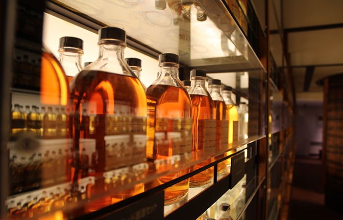 Detail of inside mash tun while making whisky
