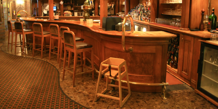 A Bar with Penny Flooring - A Step by Step Instruction