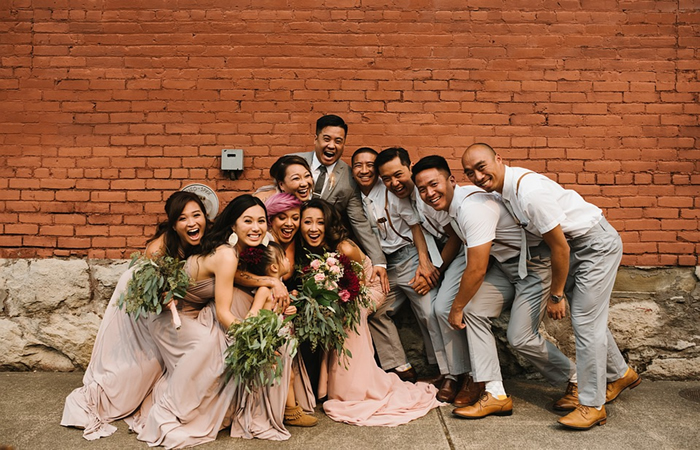 Wedding Party Gifts - bridal train and groom's friends!