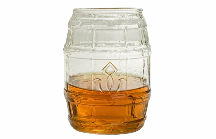 Barrel Shaped Whiskey Glass