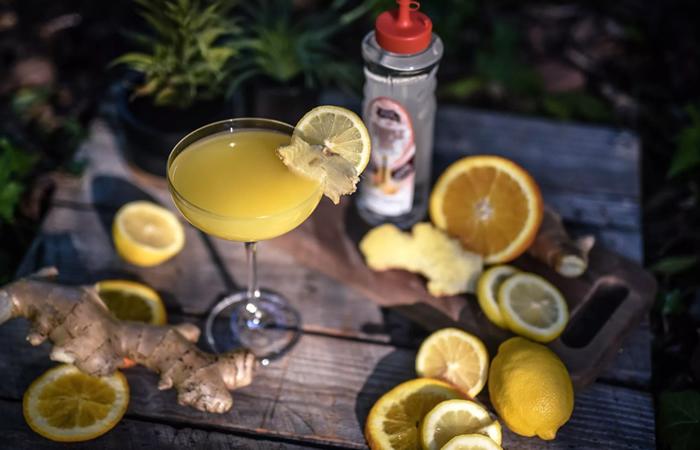Golden, Fall cosmopolitan cocktail