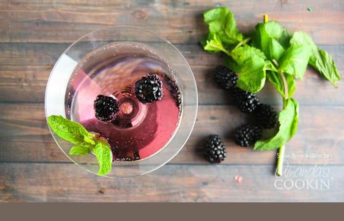 Blackberry Gin Martini