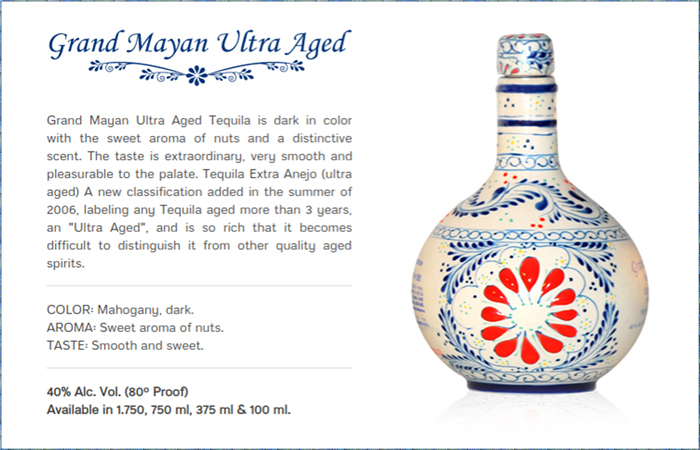 Best Tequila for Margarita - Grand Mayan Ultra Aged