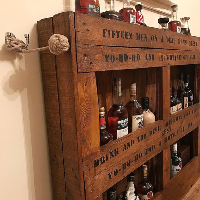 DIY Pallet Bar - Indoor, Storage