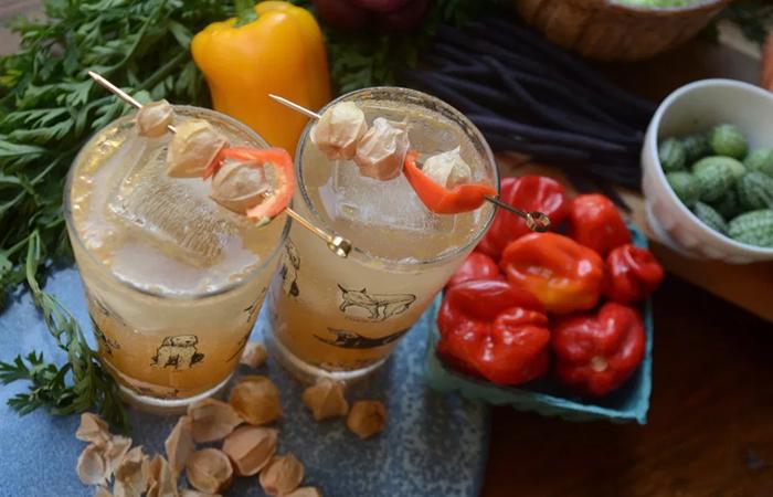 Fall cocktails - husk cherries