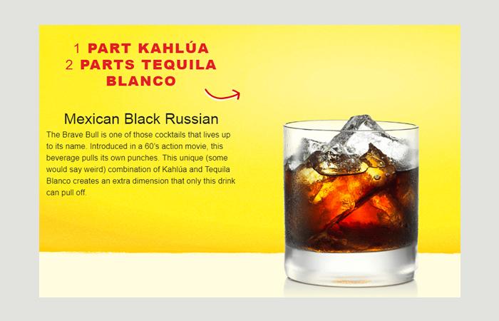 Brave Bull Kahlua Cocktails
