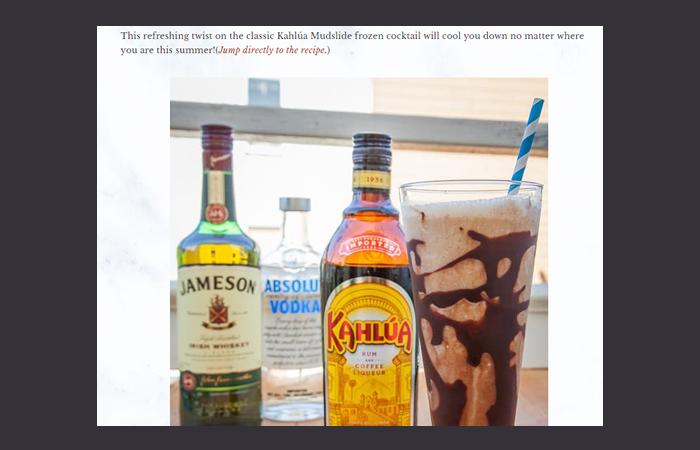 Kahlua Coconut Mudslide Cocktails