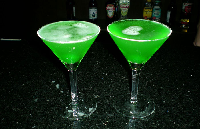 Green Apple Martini St. Patrick's Day Cocktail - Green Apple Martini