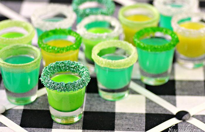 4-Leaf Clover Shots - St. Patrick's Cocktails