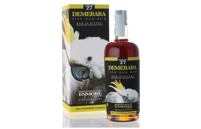 A bottle of Demerara Enmore Rum 27 Years Old