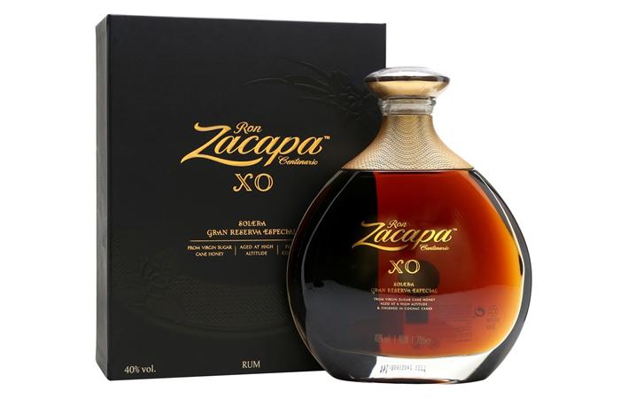 A bottle of Ron Zacapa Centenario XO