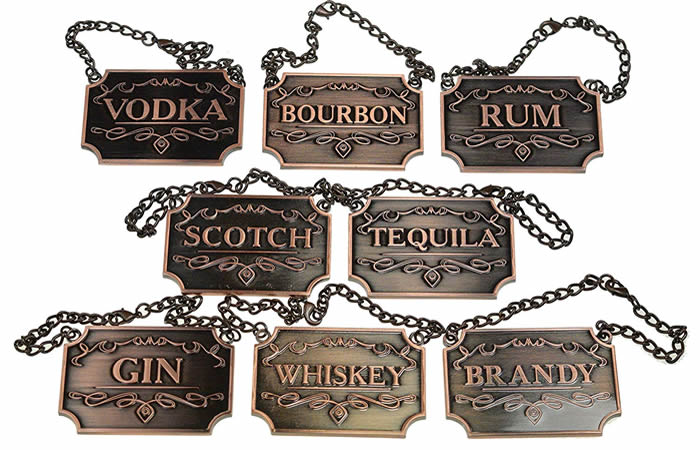 Whiskey Decanter Tags